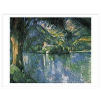 Künstlerpostkarte Cézanne -Der See von Annecy-