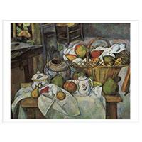 Künstlerpostkarte Cézanne -Stilleben mit Früchtekorb-