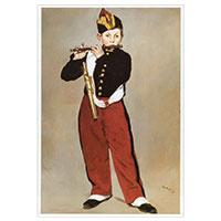 Künstlerpostkarte Manet -Der Pfeiffer-