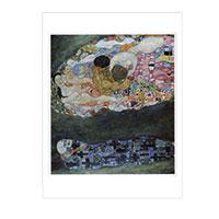 Künstlerpostkarte Klimt -Tod und Leben-