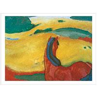 Künstlerpostkarte Marc -Pferd in Landschaft-