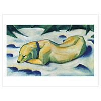 Franz Marc - Liegender Hund im Schnee