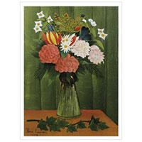 Henri Rousseau - Blumenvase mit Efeuzweig