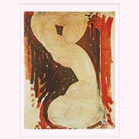 Künstlerpostkarte Modigliani -Karyatide II-
