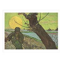 Künstlerpostkarte van Gogh -Sämann bei untergehender Sonne-