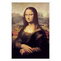 Künstlerpostkarte da Vinci -Mona Lisa-