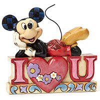 Mickey Figur - I Love U - von Jim Shore