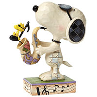 The Blues Beagle - Snoopy als Joe Cool mit Woodstock