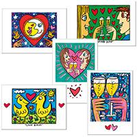 """James Rizzi Postkarten-Set """"Love"""""""