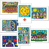 Glückwunsch-Postkarten-Set James Rizzi