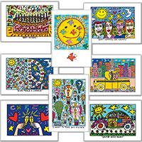 James Rizzi Glückwunsch-Postkarten-Set
