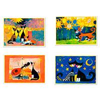 4 Künstler-Postkarten im Set: Rosina Wachtmeister