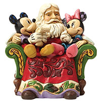 Jim Shore Figur -Santa with Mickey & Minnie-