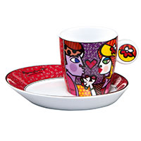 Romero Britto Espressotasse - All for You -