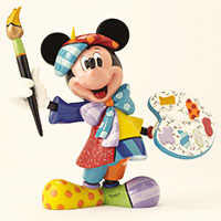 Romero Britto Figur -Painter Mickey Mouse-
