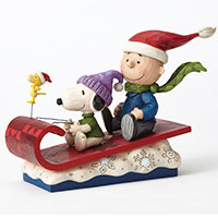 Jim Shore Figur -Charlie und Snoopy - Snow Day-