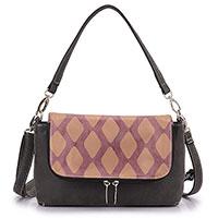 HI-DI-HI Handtasche - Wolf - black/pink/purple