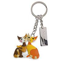 Bezaubernder Schlüsselanhänger mit dem Katzen-Paar Patrizio & Norina