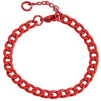 Edelstahl-Armband in Rot von Akzent
