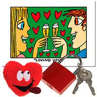 Valentinstags-Set -Schlüssel zum Herzen-