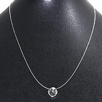 Swarovski-Kristall am zarten Schmuckdraht - grau
