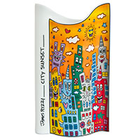 James Rizzi - Vase City Sunset