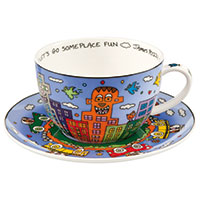 James Rizzi Cappucinotasse - Let's go out for Fun -