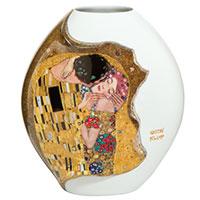 Gustav Klimt: Vase mit Goldauflage - Der Kuss -