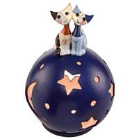 Bezauberndes Teelicht mit hinreißendem Katzen-Motiv – Goebel Porzellan