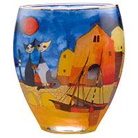 Bezaubernde Vase mit hinreißendem Katzen-Motiv von Rosina Wachtmeister