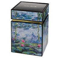 Claude Monet Teedose - Seerosen mit Weide -