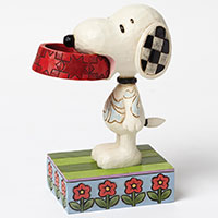 Snoopy with dog dish - er will mehr