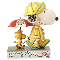 Friends Through Rain Or Shine - Snoopy and Woodstock