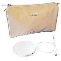 Reise-Set: Taschenspiegel mit Powerbank in Samsonite Kosmetiktasche