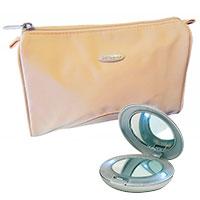Kosmetikset: Samsonite Kosmetiktasche und Taschenspiegel