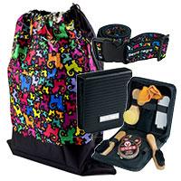 perro negro Reise-Set: Schuhputz-Set, Koffergurt und Wäschebeutel