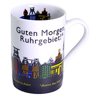 Bunter Ruhrgebiets-Kaffeebecher
