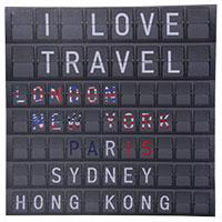 Bild auf Leinen -Fernweh- I Love Travel