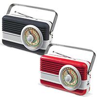 Retro Powerbank mit Radio und Lautsprecher