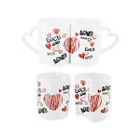 Paartasse 2er Set -Love Graffiti-