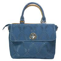 Zauberhafte zweifarbige Handtasche: - Folly - Blau/Beige von Hi-Di-Hi