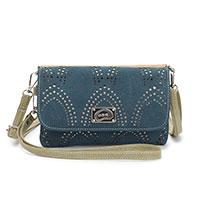 Zauberhafte zweifarbige Handtasche: Fool blau/beige von Hi-Di-Hi