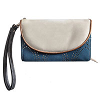 """Stylische Handtasche: """"Circus Beige/Blue"""" vom Trend-Label Hi-Di-Hi"""