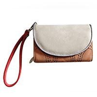 Stylische Handtasche: Circus beige/cognac vom Trend-Label Hi-Di-Hi