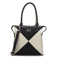 Schulter-/Handtasche - Lucille black/beige vom Trend-Label Hi-Di-Hi
