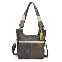 Stylische Handtasche Christine Dark Grey vom Trend-Label Noi-Noi