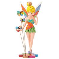 Tinker Bell auf Blume – Disney-Sammelfigur von Romero Britto