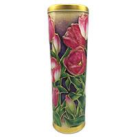 Hinreißend schöne Rund-Dose mit edlem Tulpen-Dekor