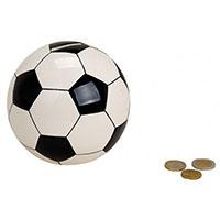 Design-Spardose - Fußball - aus Keramik