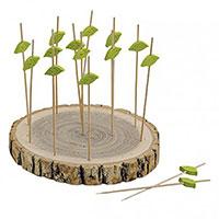 16-teiliges Tapas-Set aus Echtholz